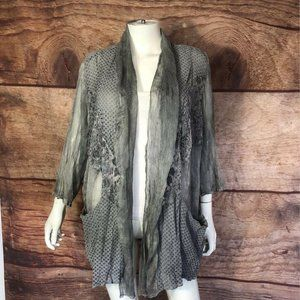 Chicos Travelers Collection Womens Open Front XL